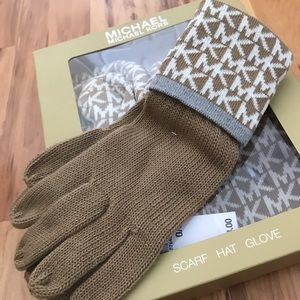 Michael Kors Accessories - BRAND NEW Michael Kors beanie, gloves, and scarf